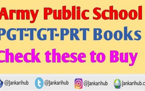 Army Public School PGT TGT Books