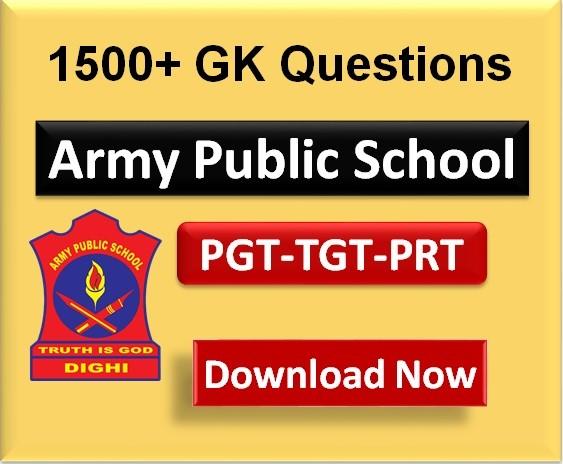 Important-GK-for-Army-public-school-pgt-tgt-prt-exam-2020