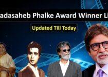 Dadasaheb Phalke Award Winner list